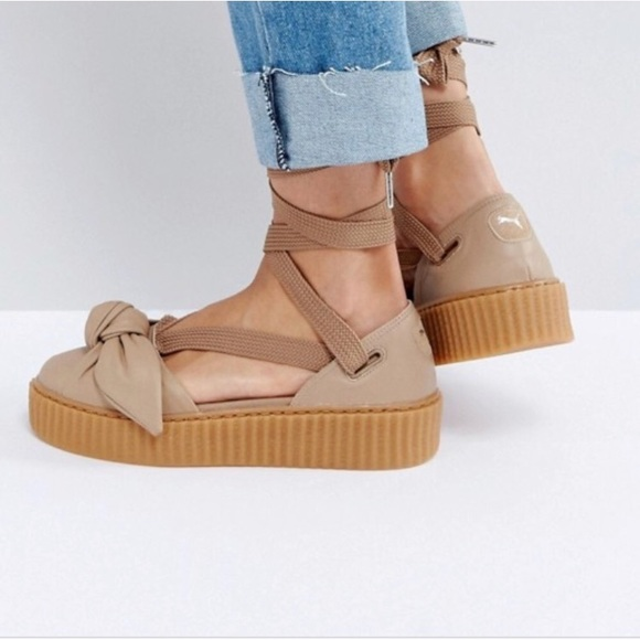 4dd340f3d14 Puma Fenty By Rihanna Leather Lace Up Creeper